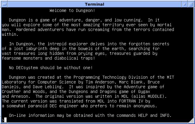Zork - Interactive Fiction